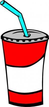 free vector Soft Drink In A Cup clip art