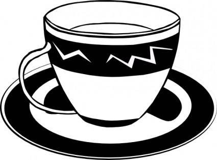 Teacup (b And W) clip art
