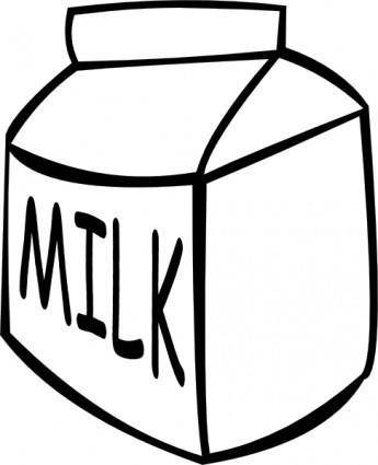 Milk (b And W) clip art