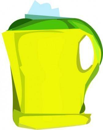 Electric Yellow Teapot clip art