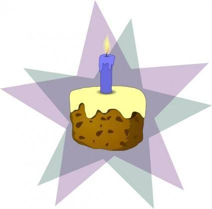 Cake And Candle clip art