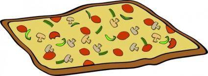 Rectangular Veggie Pizza clip art