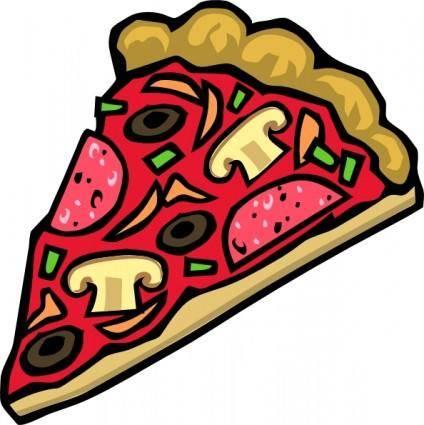 free vector Pizza Slice Mushroom Veggies Pepperoni clip art