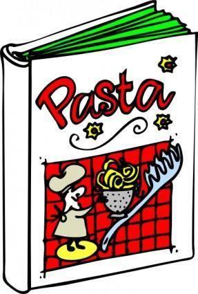 free vector Italian Cooking Book clip art