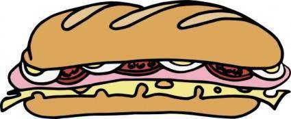 Sandwich_one clip art