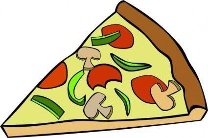 Pepperoni Pizza Slice clip art