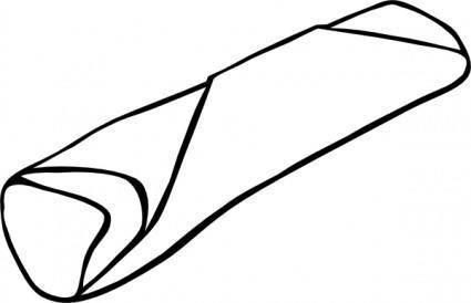 free vector Burrito clip art