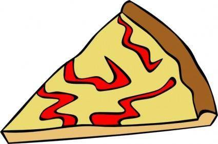 Cheese Pizza Slice clip art