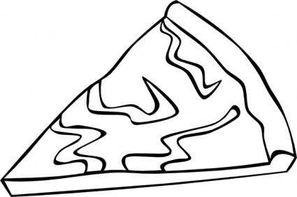 free vector Cheese Pizza Slice (b And W) clip art