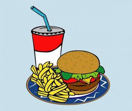 free vector Fries Burger Soda Fast Food clip art
