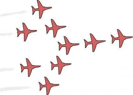 free vector Airplanes Flight Formation clip art