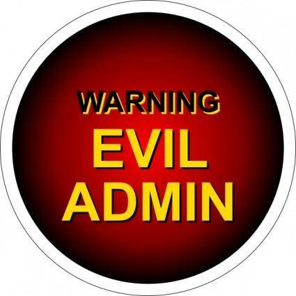 Evil Admin Warning clip art