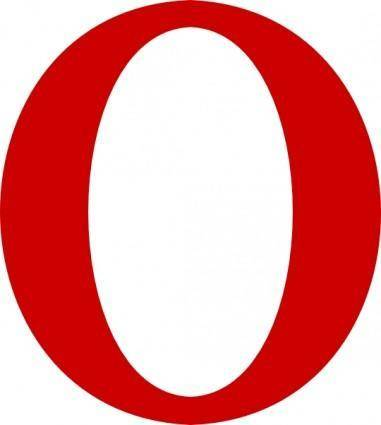 free vector Red Serif O Letter clip art