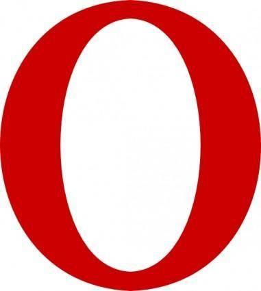 Red Serif O Letter clip art