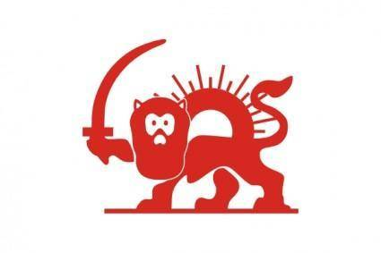 free vector Red Lion With Sun clip art
