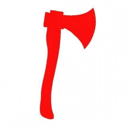 free vector Red Axe clip art