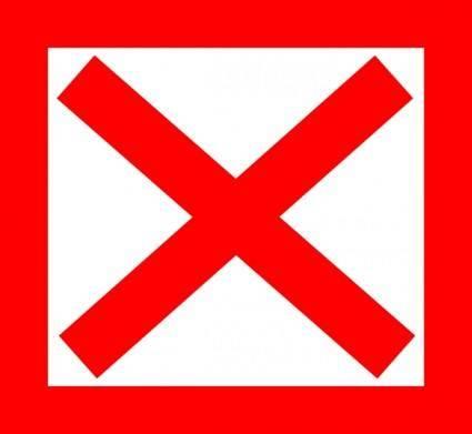 No Red clip art