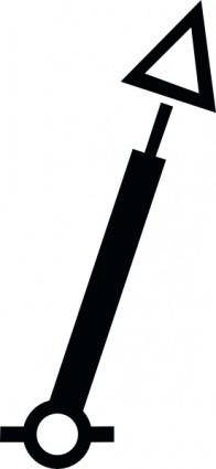 International Spar Red Conicaltm clip art