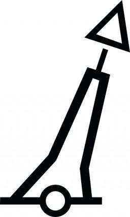 free vector Pillar Red Conicaltm clip art