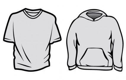 free vector BlueCotton T-Shirt Templates