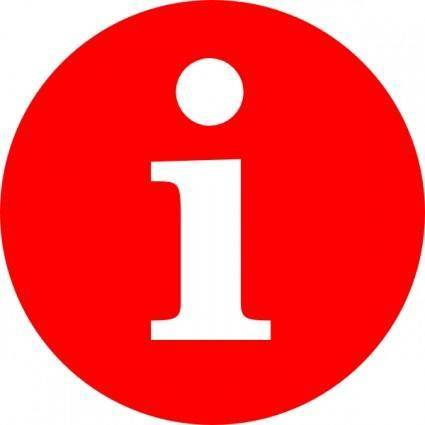 Letter I In A Red Circle clip art