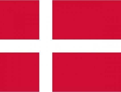 Flag Of Danmark clip art