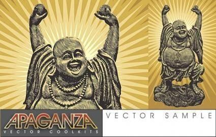 free vector Laughing Buddha