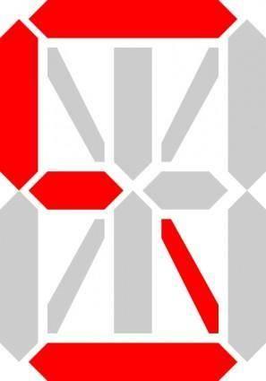 free vector Letter S Segment Display clip art