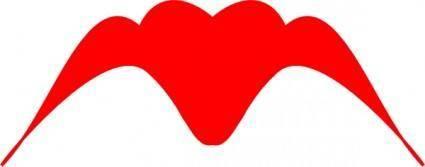 Winged Heart Silhouette clip art