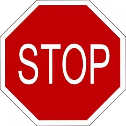 free vector Stop Sign clip art