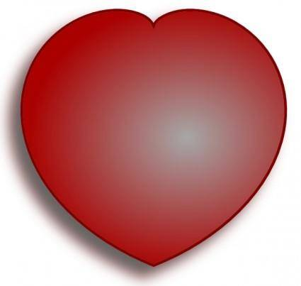 Simple D Heart clip art