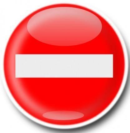 free vector No Entry Sign clip art
