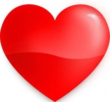 free vector Glossy Heart clip art