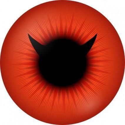 Red Iris With Devil Pupil clip art