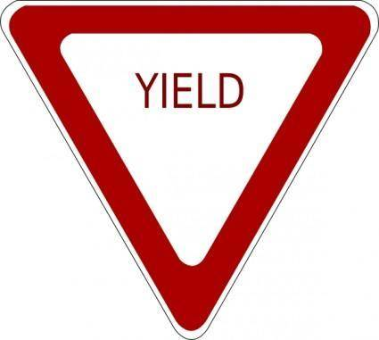 Yield Sign clip art