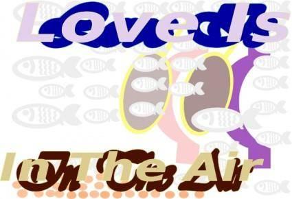 Iglooo E Card Love Is In The Air Red Sea Skin Diving Aug clip art