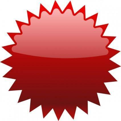 free vector Red Sun clip art