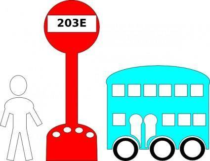 free vector Bus Station Cartoon clip art