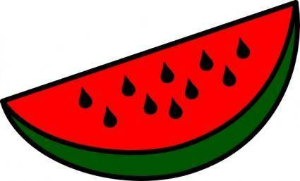 free vector Watermelon Wedge clip art