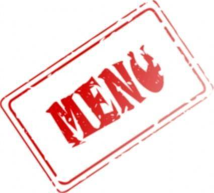 free vector Menu Rubber Stamp clip art