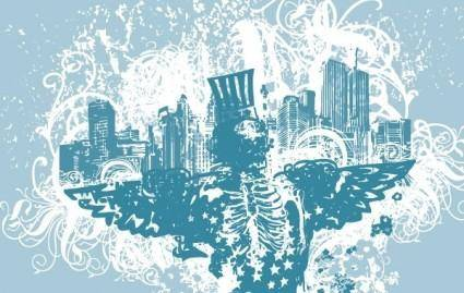 free vector City of Angels vector illustration