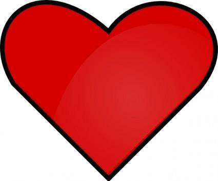 free vector Red Heart clip art