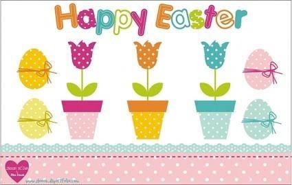 free vector Easter Design Set