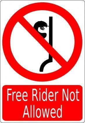 Free Rider Not Allowed clip art