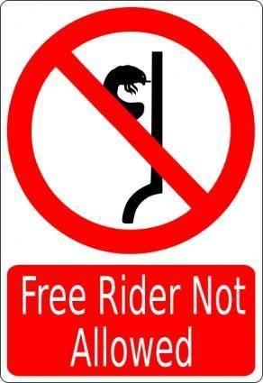 free vector Free Rider Not Allowed clip art