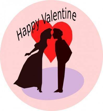 free vector Happy Valentine clip art