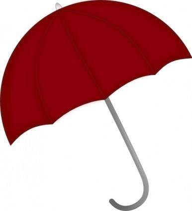 free vector Red Umbrella clip art