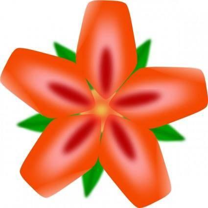 free vector Atulasthana Red Flower clip art