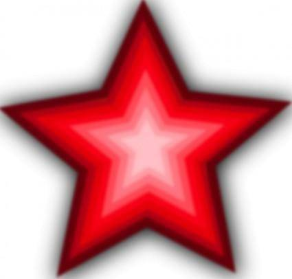 Red Gradient Star clip art