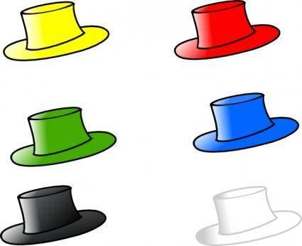Clothing Six Hats clip art